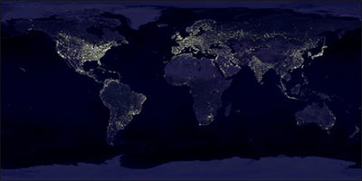 Image of global city lights