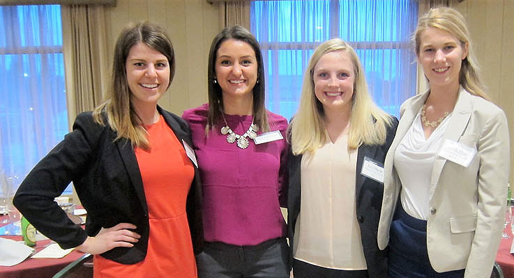 Four Accounting alumnae now working in major firms