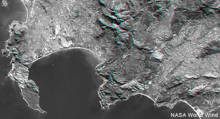 Nasa image of Cape Town demonstrating geospatial techniques