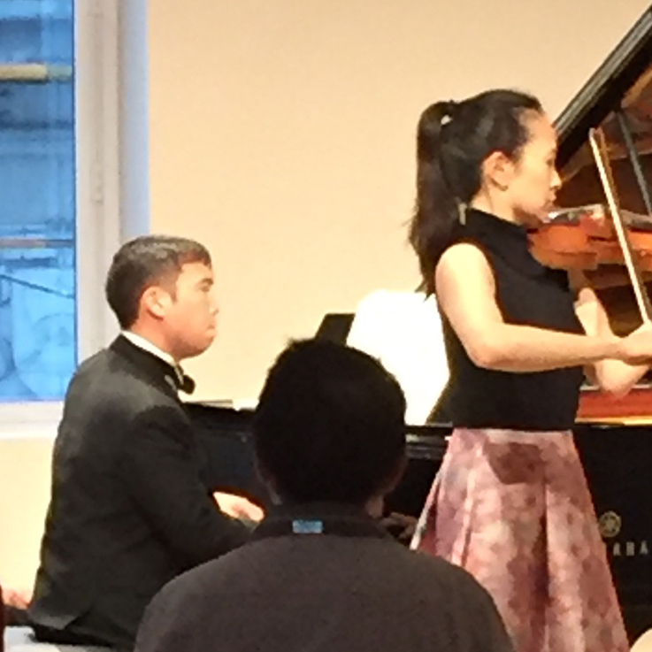 Henry Wong Doe performing with Eugenia Choi