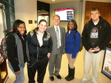 Bryan Moore and students
