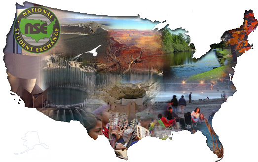 National Student Exchange (NSE) photographic map of the United States
