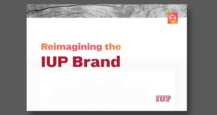 cover of the IUP brandbook