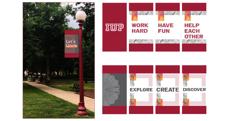 example of the new lightpoles that will be found across campus