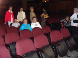 Alpha Phi seats in the IUP Performing Arts Center