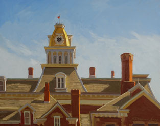 Ron Donoughe's painting of the old Indiana County courthouse