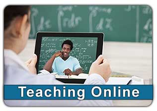 Teaching Online button