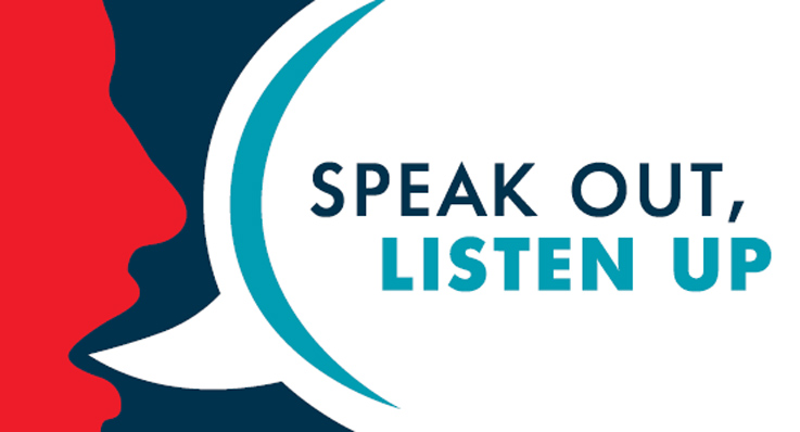 Speak out listen up graphic 737