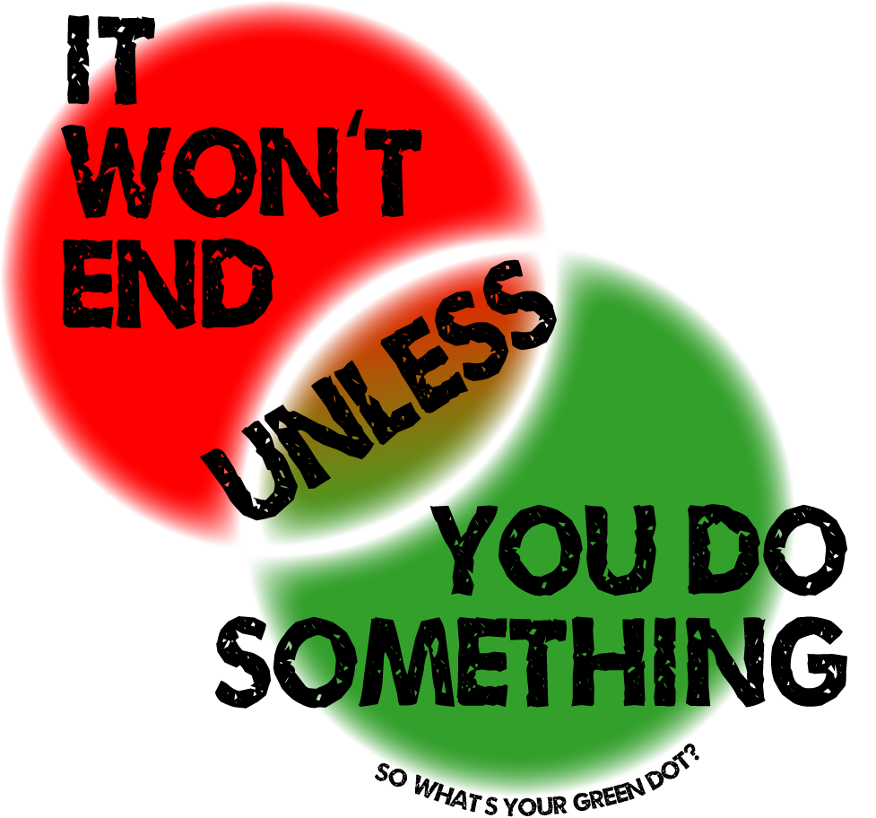 It won't end unless you do something. So what's your Green Dot?