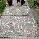 Chalk on the Walk message