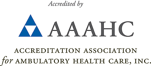 Accredited by AAAHC - Accreditation Association for Ambulatory  health Care, Inc.
