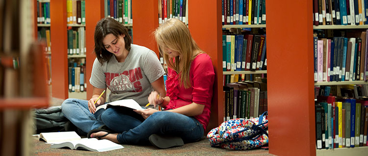 Students in Stapleton Library