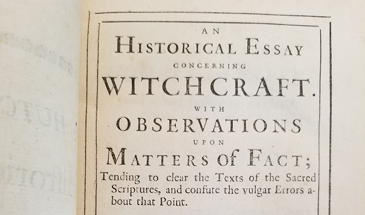Carousel Image - Title Page of Witchcraft Treatise