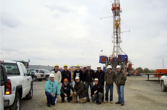 Geoscience Class At Marcellus Rig 563X364