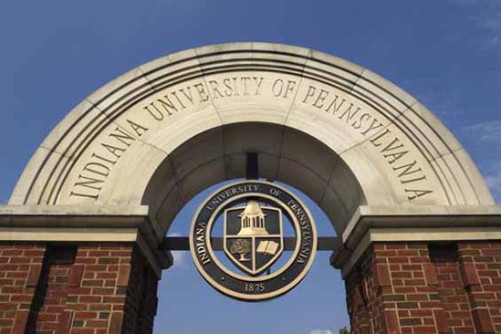 Centered looking-up view of the IUP arch and seal