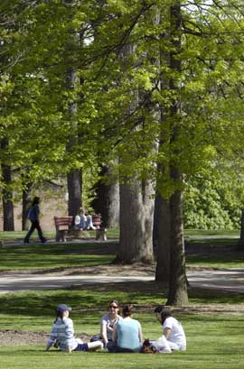 Students in the Oak Grove