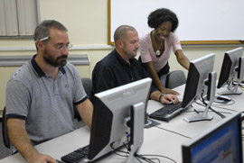 Graduate Students in Computer Lab