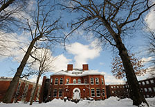 IUP campus in winter