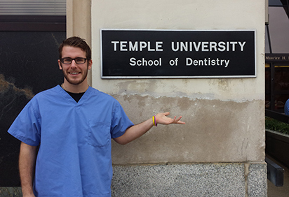 Julian Lutz at dental school, Temple University School of Dentistry