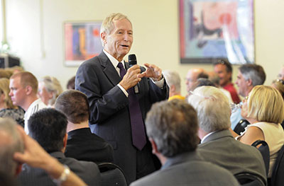 President Werner addressed employees during his first open forum September 2, 2010.