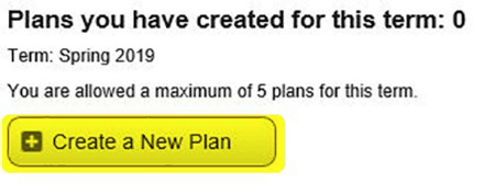 After selecting Continue, choose Create a New Plan