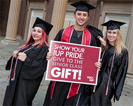 Show your IUP pride. Give to the Senior Class Gift