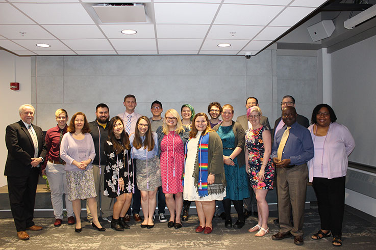 IUP students and staff at the 2019 Lavender Graduation