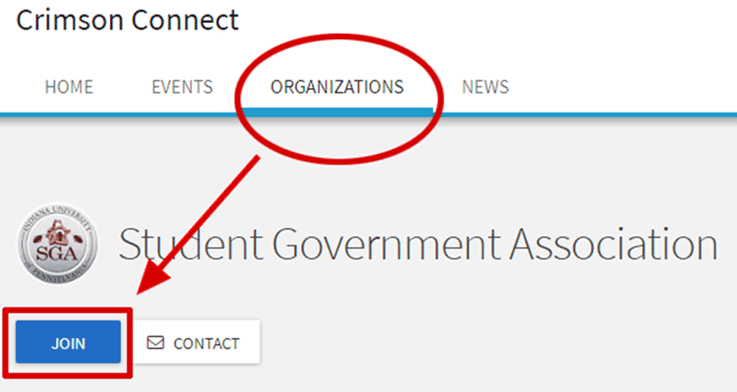 After you have identified the group you'd like to join, navigate to their page on the website. Then, simply click the Join button in the top right corner.