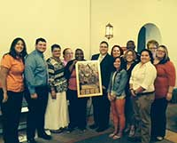 Staff of the Center for Student Life receiving the 2014 David A. DeCoster Excellence in Assessment Award