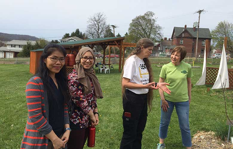 Maren Cooke Tours the Indiana Community Garden
