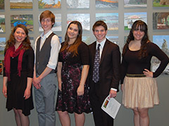 Contestants in the 2013 Poetry Out Loud competition